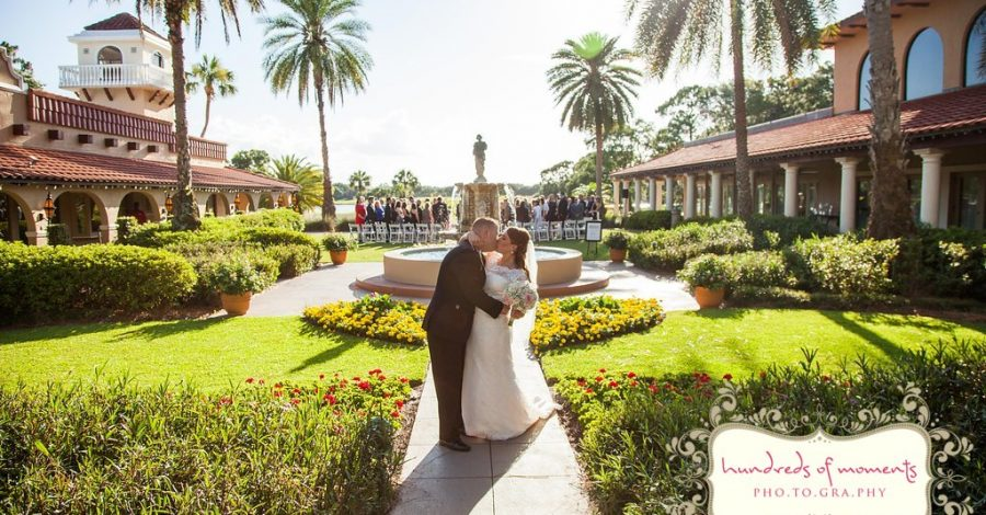 Mission Inn Resort - couple kissing in front of outdoor fountain