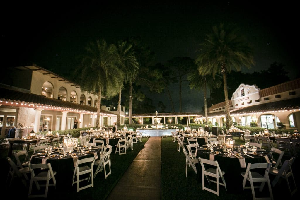 Mission Inn Resort - Night Time Outdoor Wedding Reception