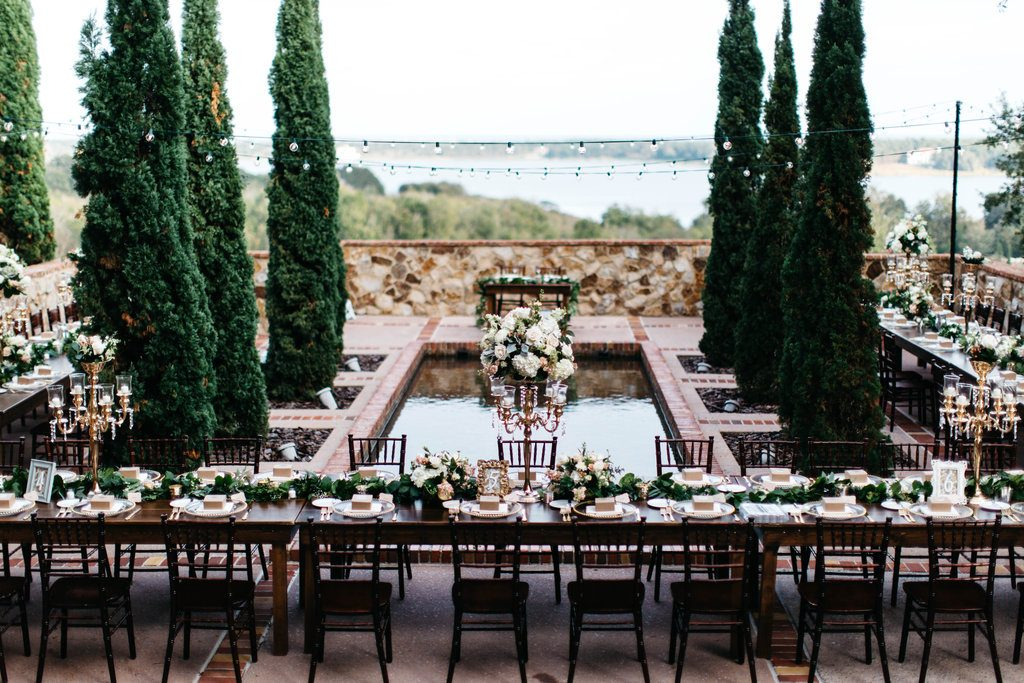 Bella Collina - Tuscan-inspired outdoor reception space