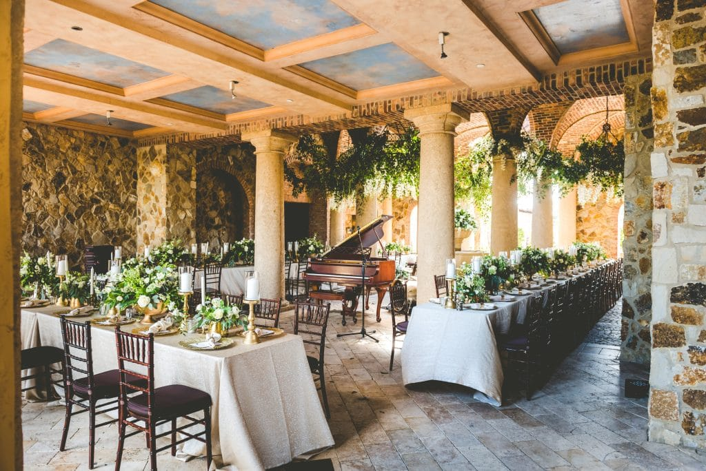 Bella Collina - rustic Tuscan semi-outdoor reception space