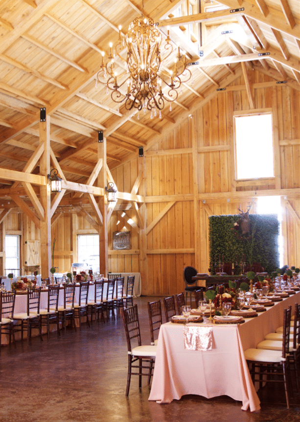 Bridle Oaks Barn - expansive, airy barn space for wedding reception