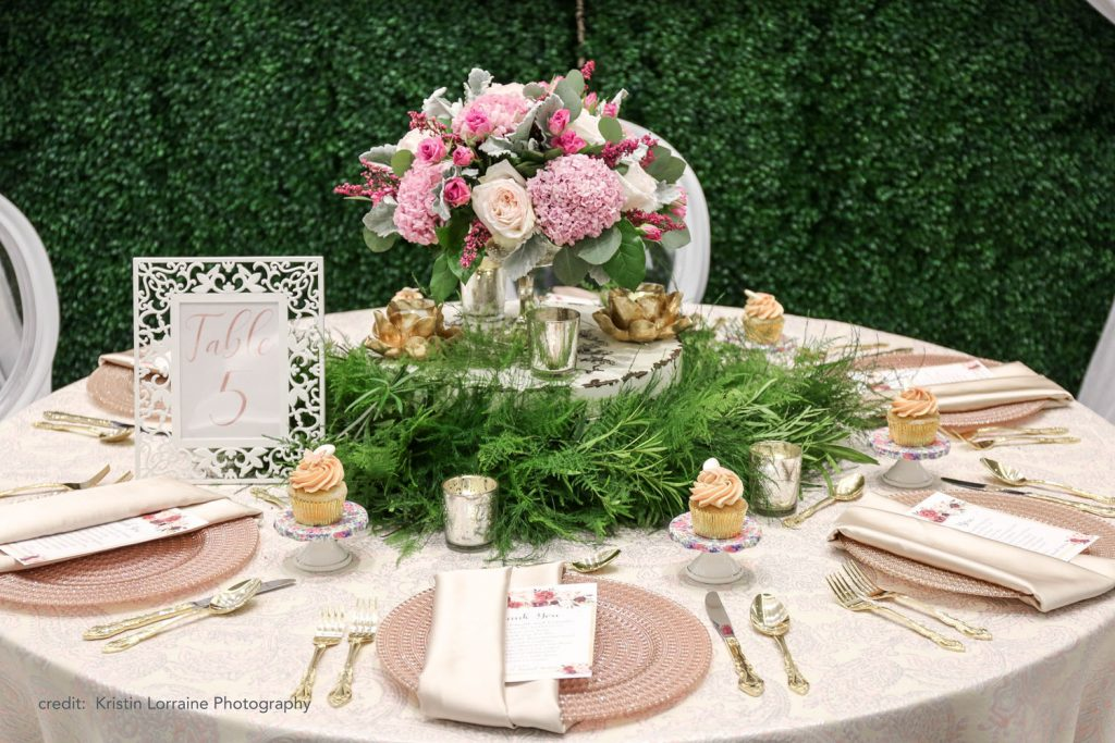 Caribe Royale - romantic feathery ferns on reception table