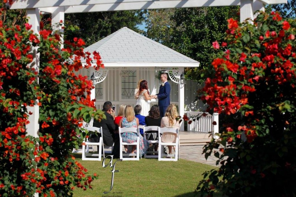 Celebration Gardens - wedding ceremony in intimate outdoor location