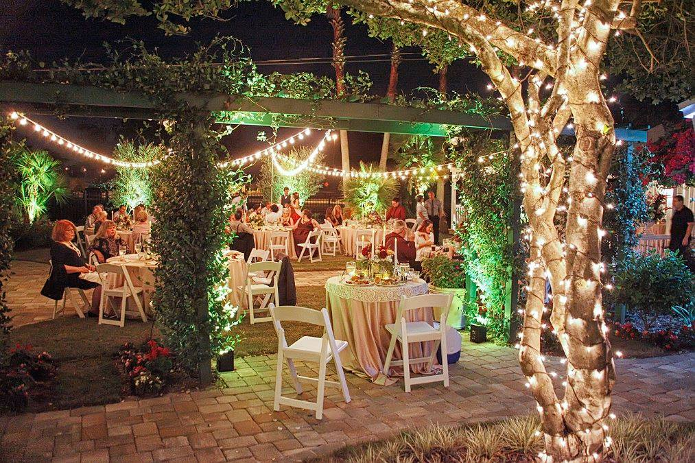 Celebration Gardens - nighttime outdoor reception space