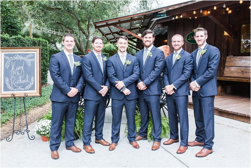 Club Lake Plantation - dapper groom and groomsmen