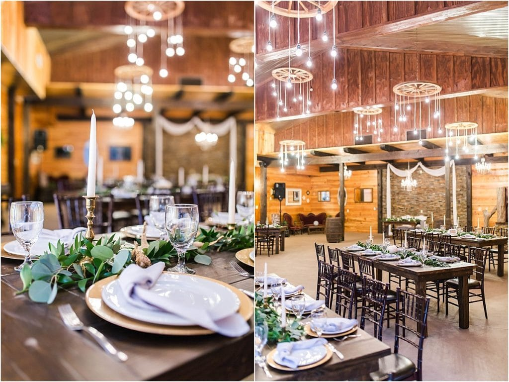 Club Lake Plantation - rustic chic indoor reception space