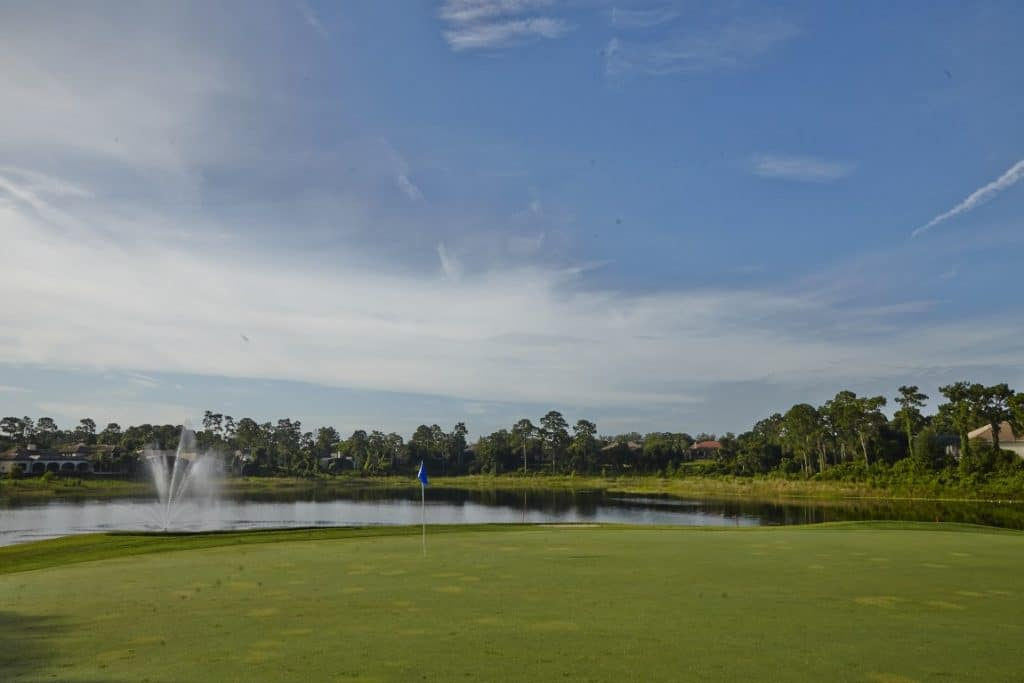 Debary-Golf-Country-Club-Golf course and bright blue sky