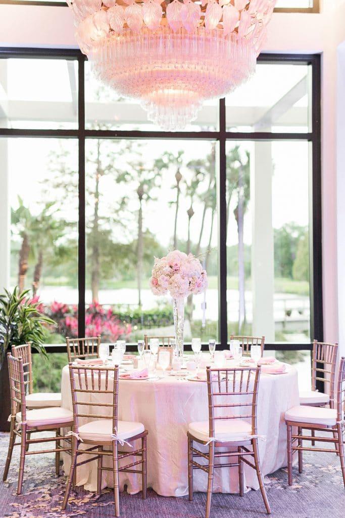 Hyatt Regency Grand Cypress - reception room in shades of blush