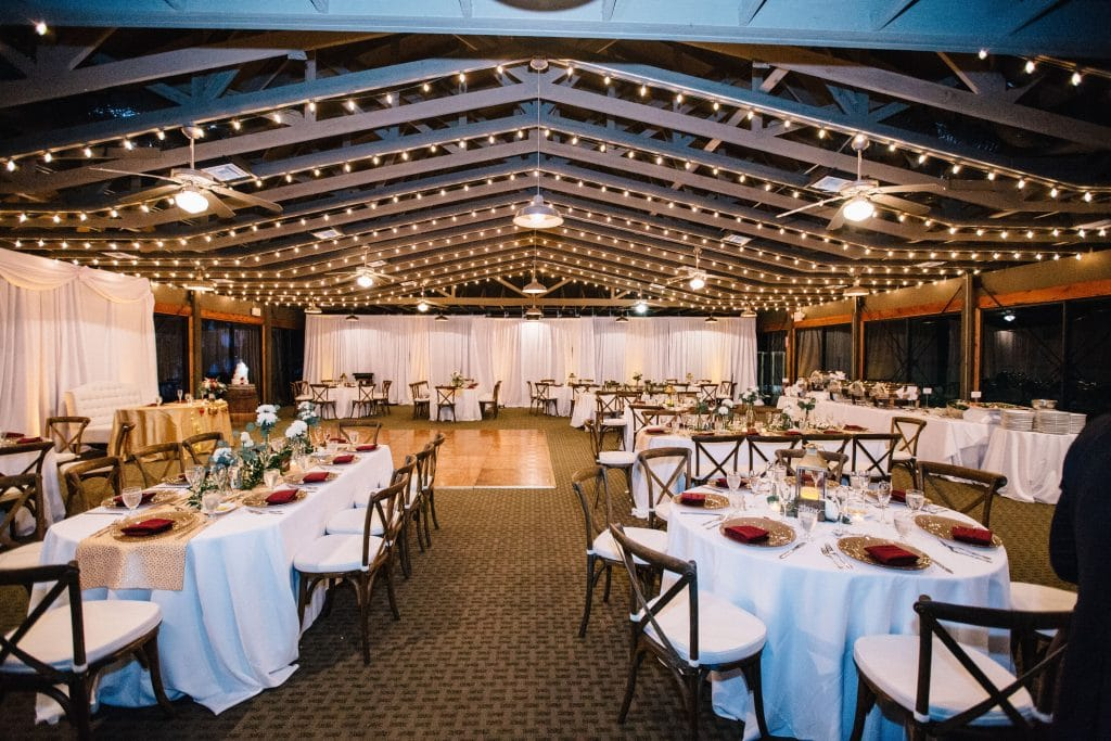 Mission Inn Resort rustic wedding at Marina with market lights