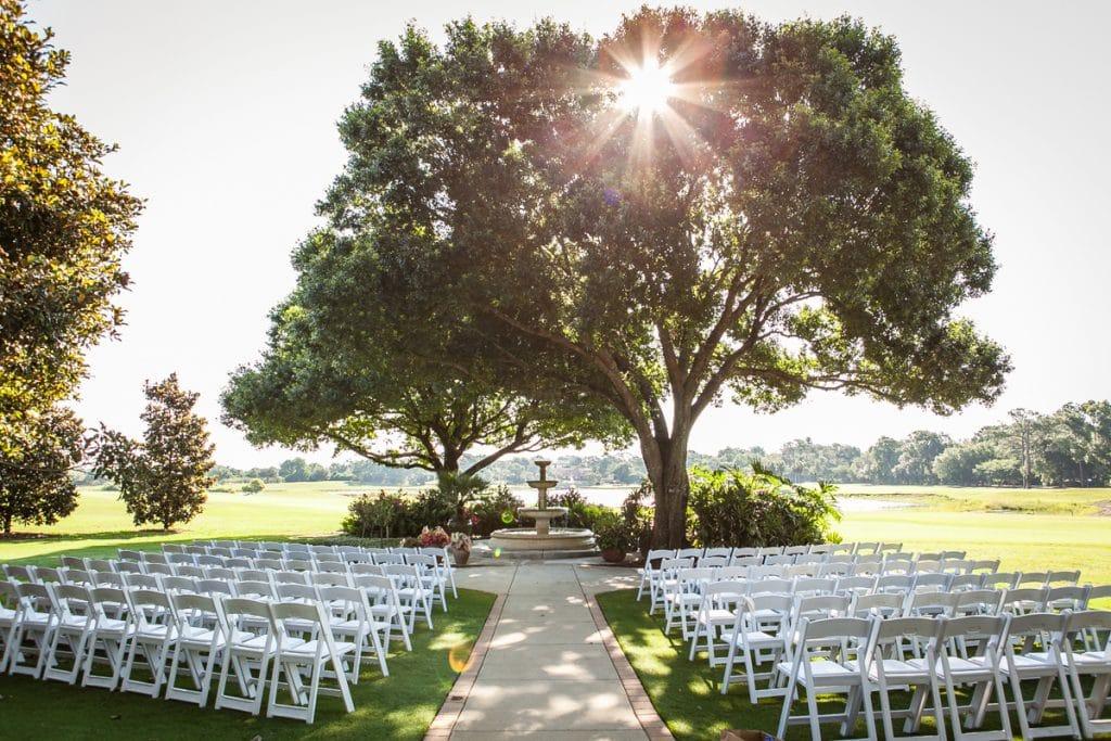 Mission In Resort wedding ceremony location Legends Courtyard