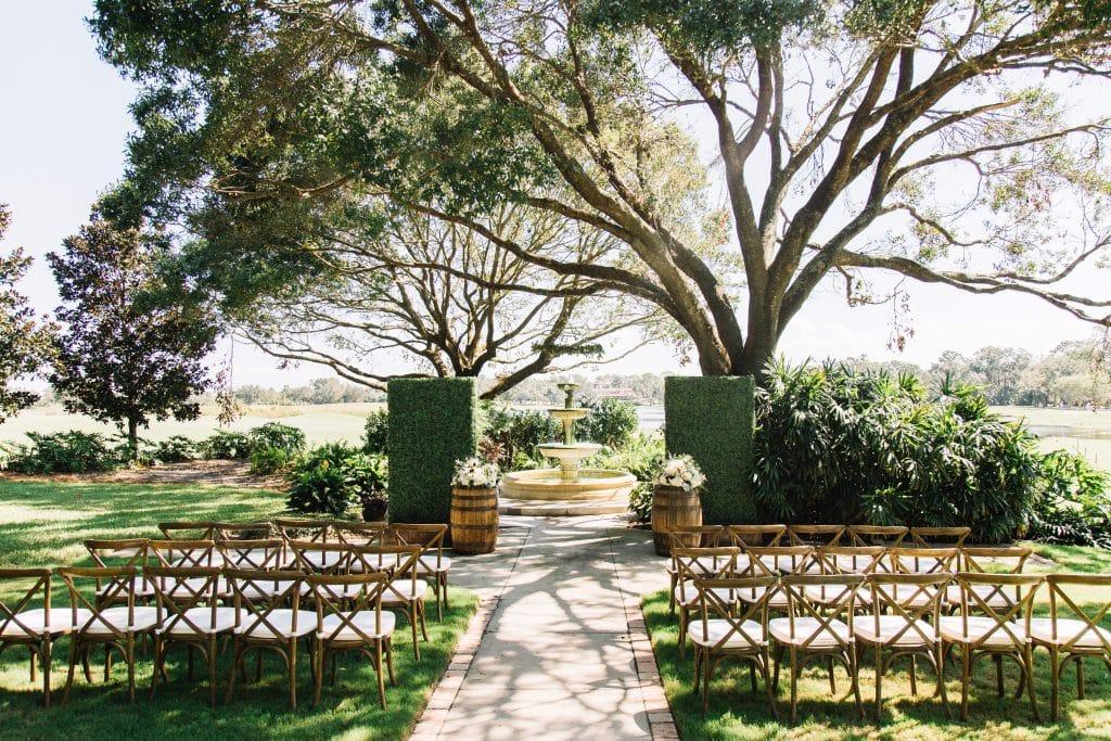 Rustic Wedding Ceremony legends at Mission Inn Resort