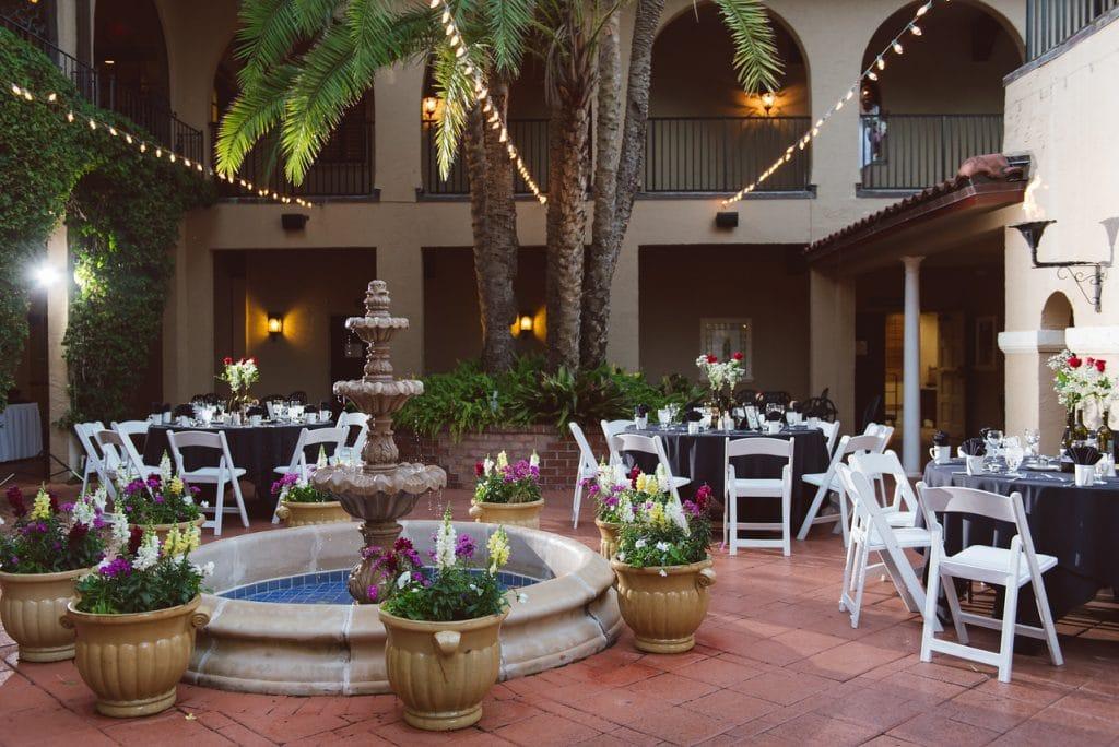 plaza de las palmas wedding reception venue mission inn resort
