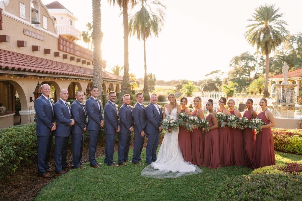 wedding party formal photo mission inn resort
