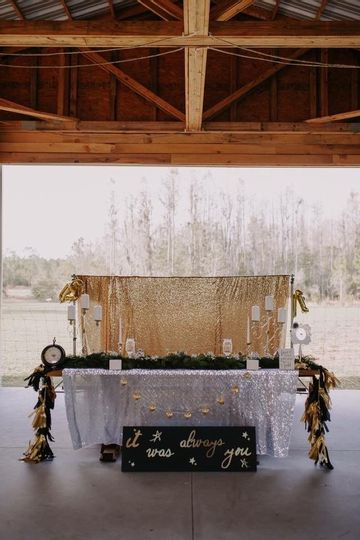 sweetheart table barn wedding lake county florida