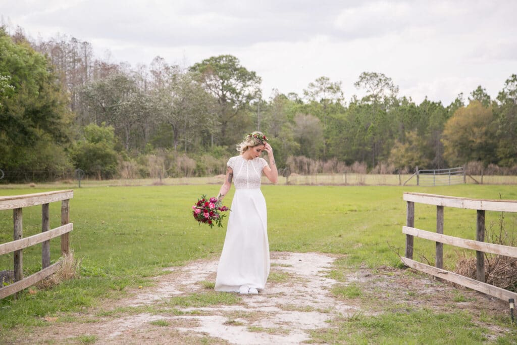 bride portrait at mystical winds wedding venue