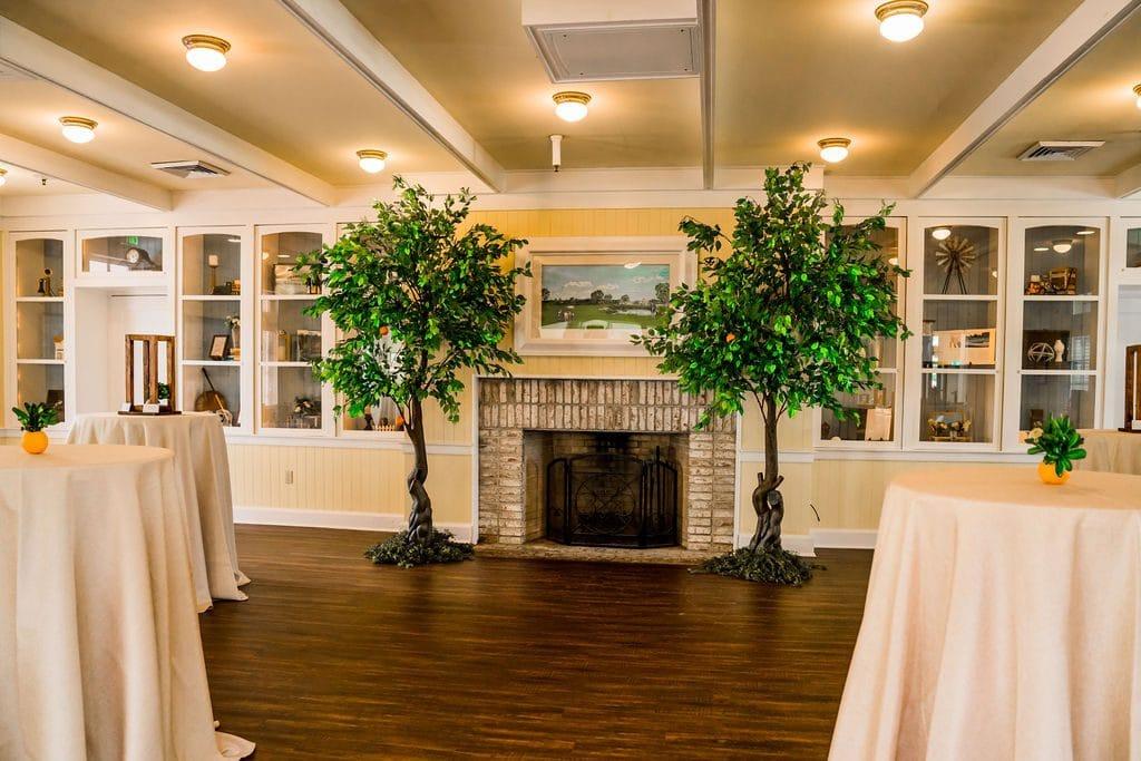 Celebration-Golf-Club-Custom display by fireplace