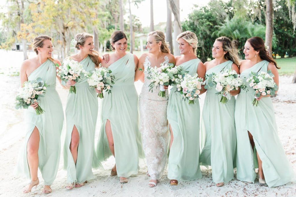 Paradise Cove - bridal party on sandy shores