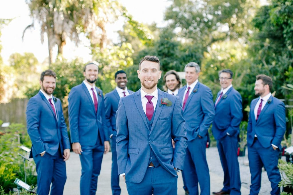 Rockledge Gardens - Groom with groomsmen in background