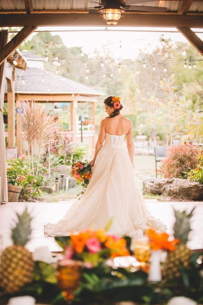 Rockledge Gardens - back of dress on lovely bride