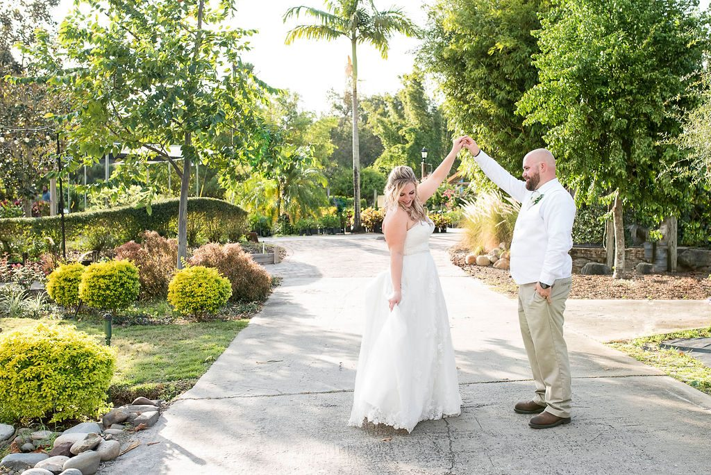 Rockledge Gardens - groom admiring his bride