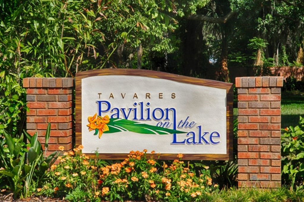 Tavares-Pavilion-on-the-Lake-Outdoor sign for venue