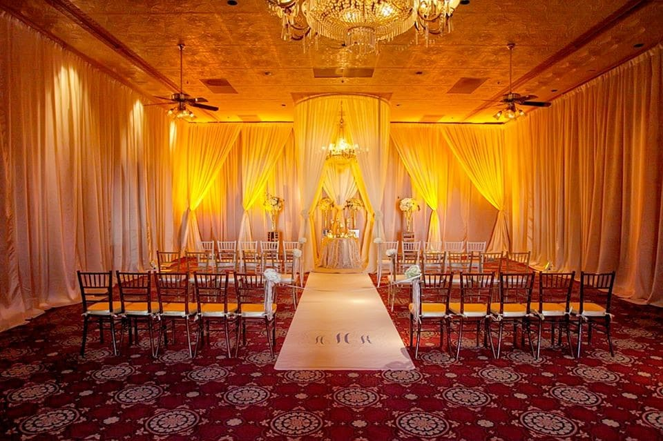 The-Ballroom-on-Church-Street-Large interior room set up for ceremony