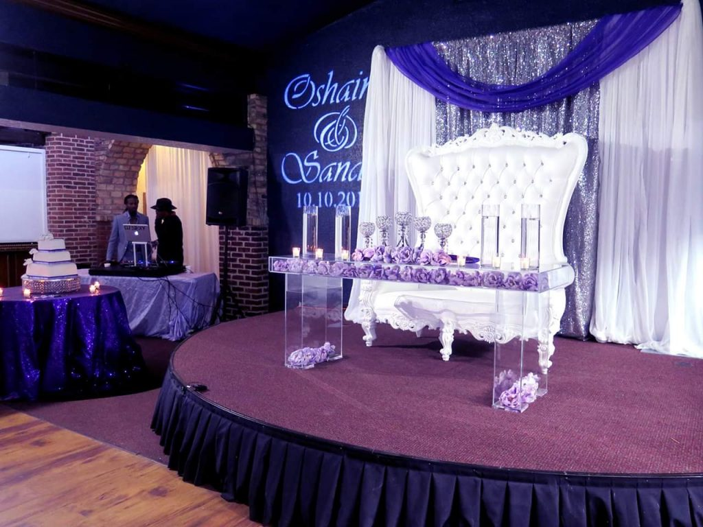 The Bella Room - sweetheart table on elevated stage