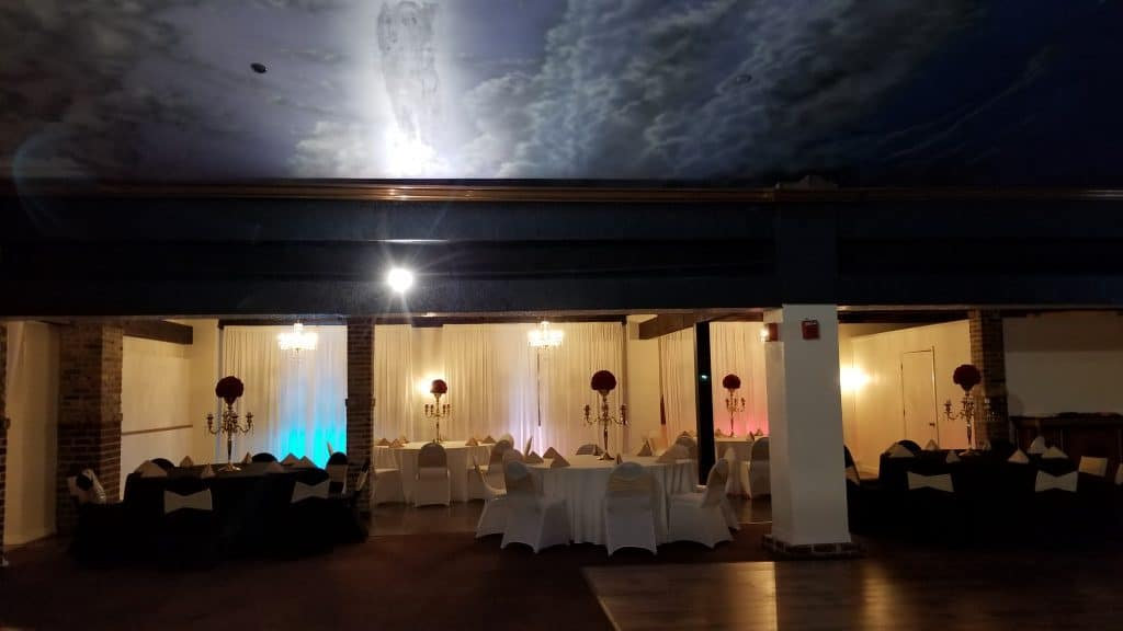 The Bella Room - Our ceiling is painted to look like the sky
