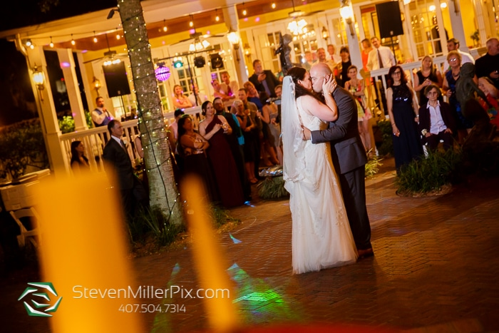 The Courtyard at Lake Lucerne - bride and groom's first dance