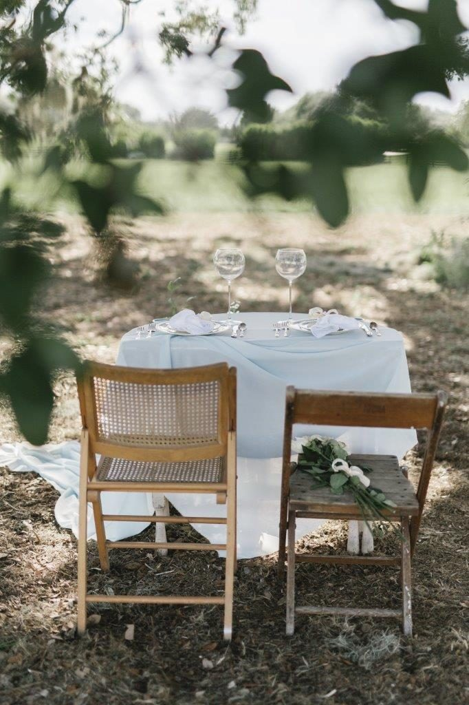 Villages Polo Club - secluded sweetheart table