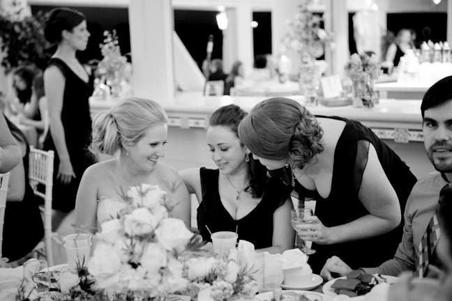 Villages Polo Club - stunning black and white photo of wedding guests