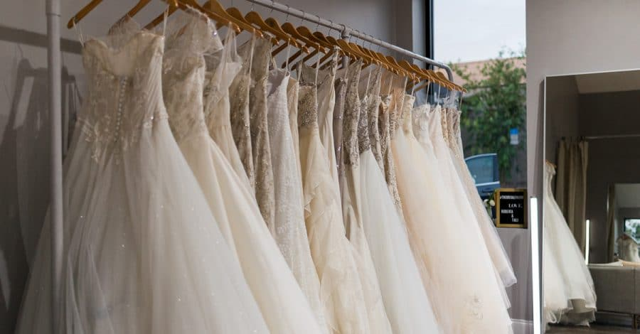 The Bridal Finery - rack of wedding dresses