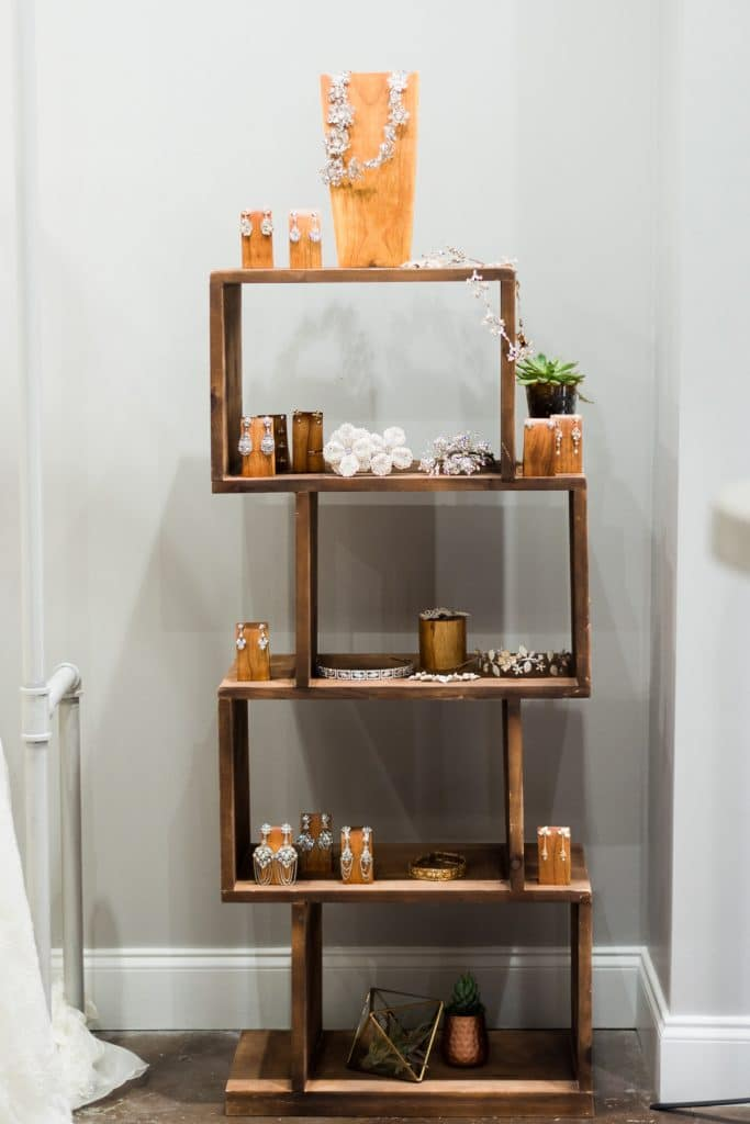 rustic jewelry display stand