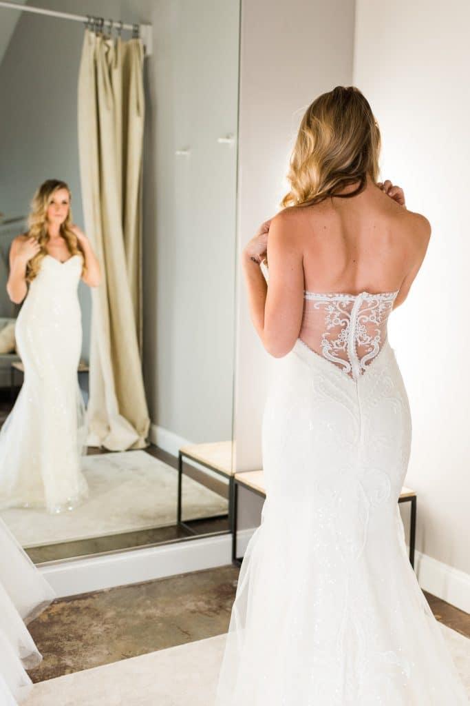 woman in mermaid wedding dress