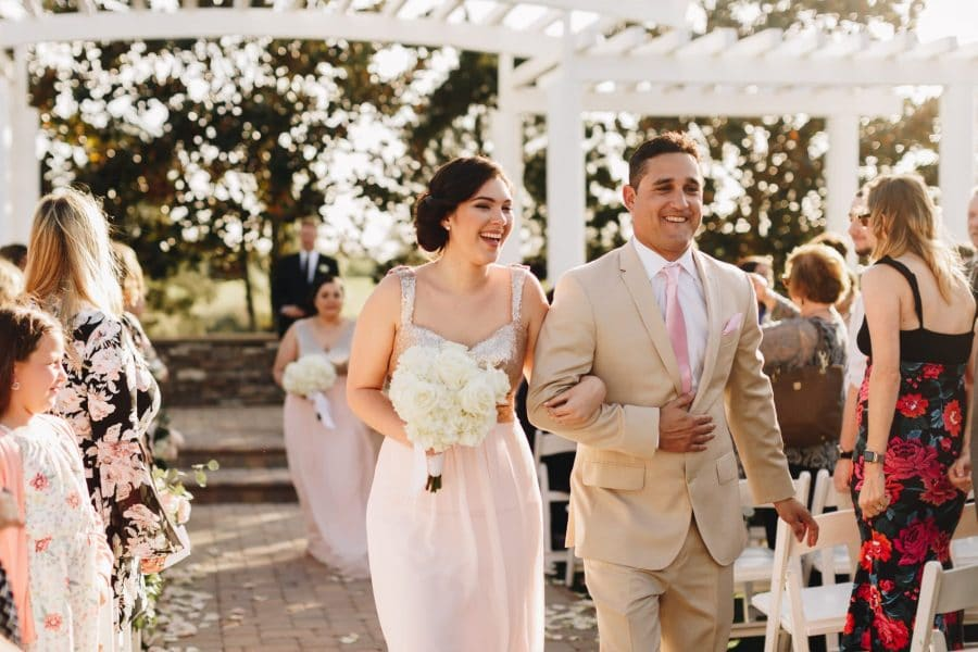 Maximize your wedding rehearsal experience wedding venue map bridesmaid and groomsman walking down the aisle junglespirit Image collections