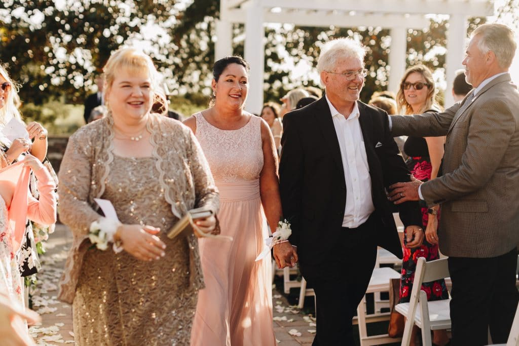 parents of bride and groom recessional