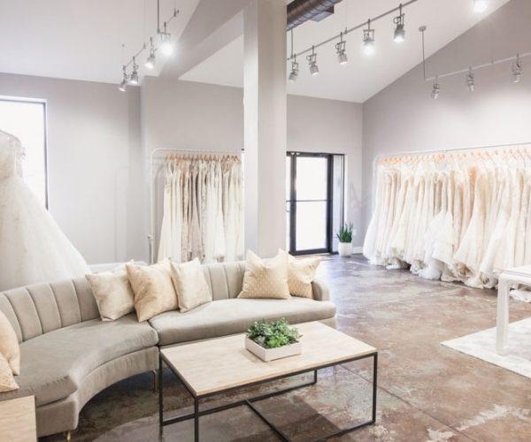 Wedding Vendor Webinars - bridal salon filled with dresses