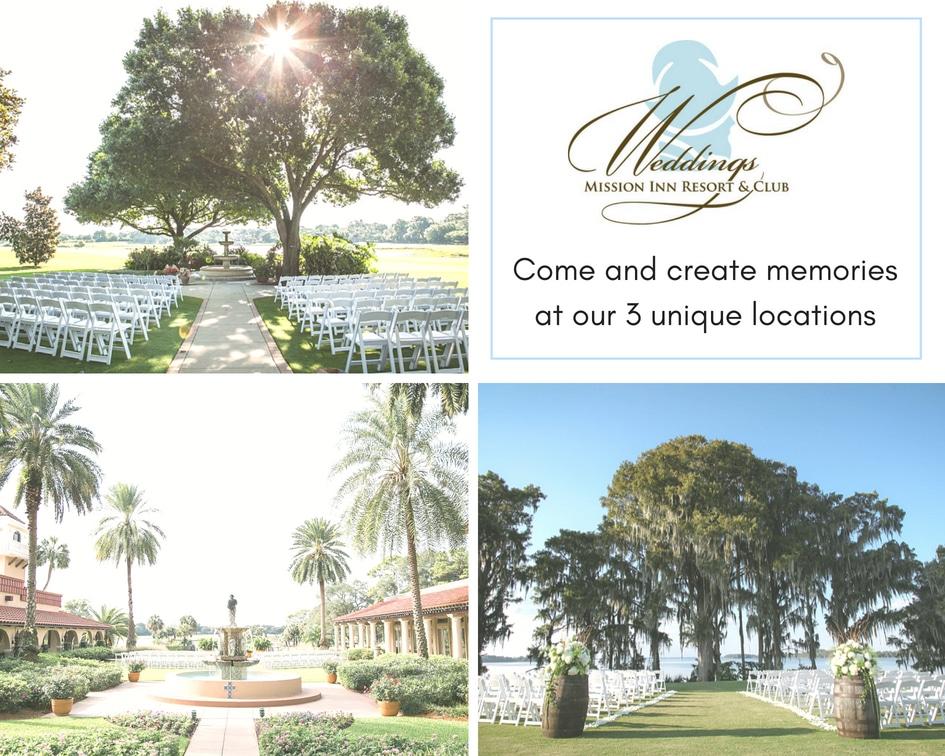 Mission Inn Resort three different wedding ceremony location