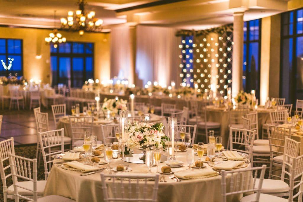 Anna Christine Events - beautiful soft gold wedding reception tables