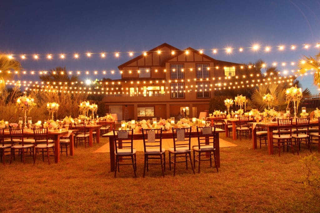 Anna Christine Events - casual chic reception table setup