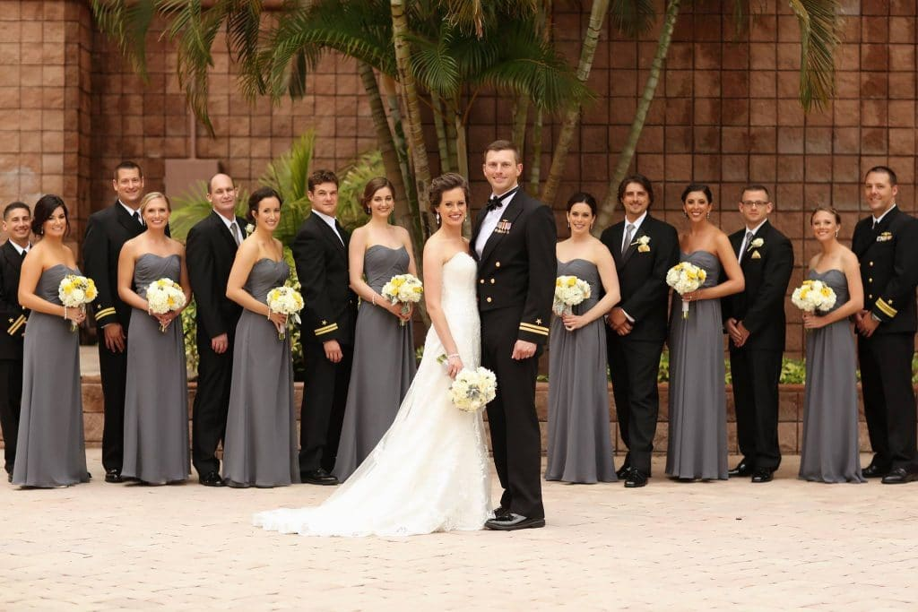 Anna Christine Events - bride and groom posing with bridal party