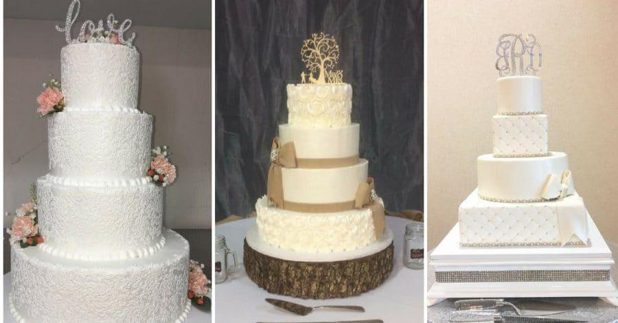 Cake Designers - three beautiful wedding cakes