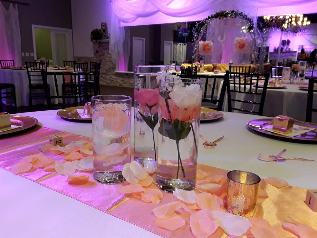 Rhythm and Smooth - flowers in water centerpieces