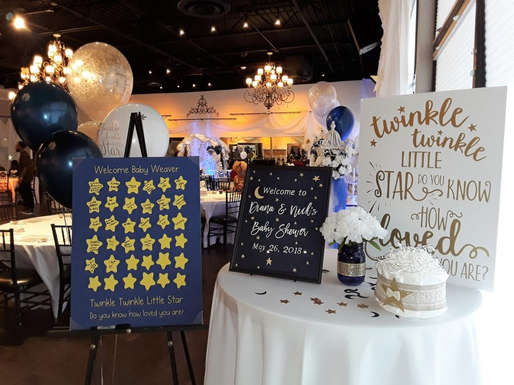Rhythm and Smooth - baby shower welcome table