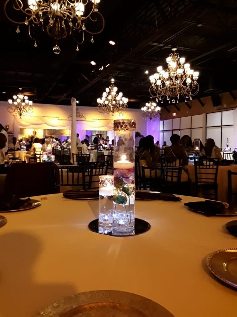 Rhythm and Smooth - striking illuminated centerpiece