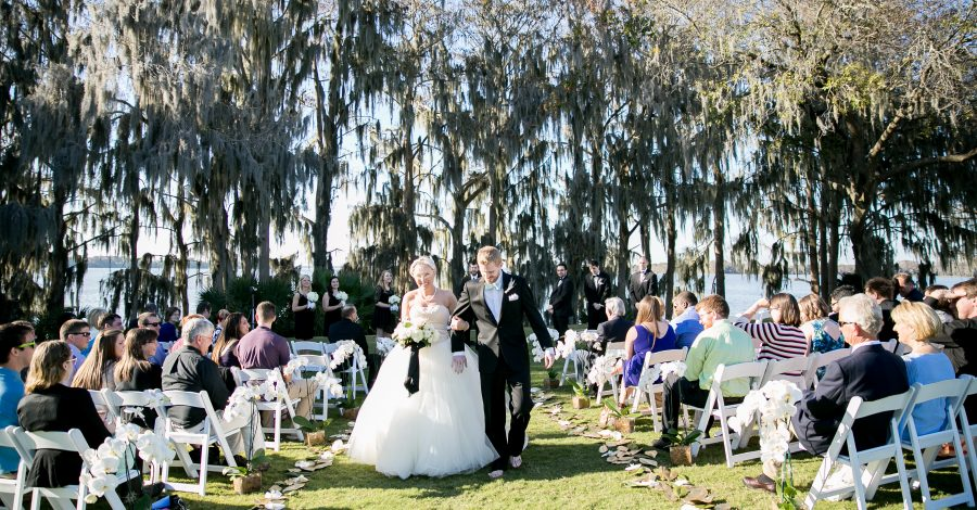 Mission Inn Resort and Club - outdoor ceremony beneath moss covered trees