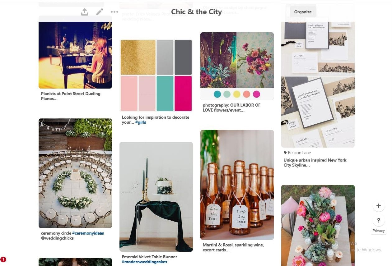 PR Events - Pinterest inspiration board