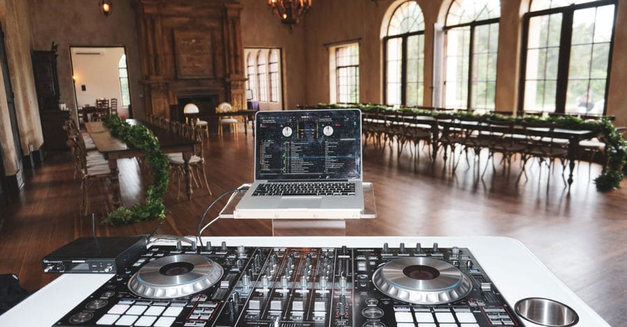 DJ Danny Garcia - DJ setup in empty reception hall
