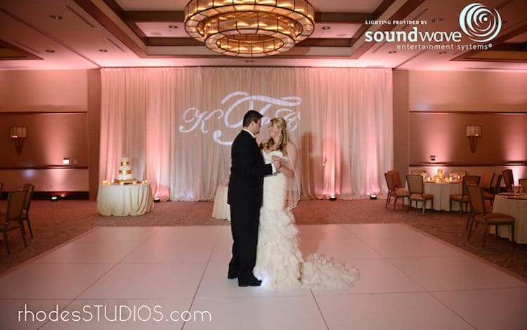 Soundwave Entertainment - bride and groom dancing in empty reception hall