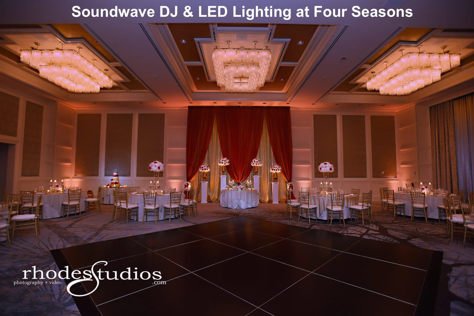 elegant uplighting at the Four Seasons